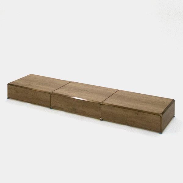 ビボ古美色テーブル・ステージ VB(3x1)1800x450H150SP(古木)