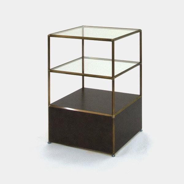 ビボ古美色ガラステーブル VB(1x2)600マスH900SG300