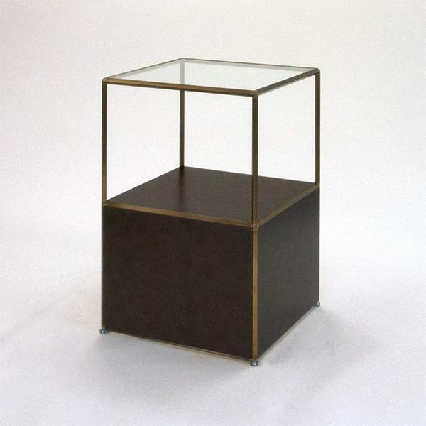 ビボ古美色ガラステーブル VB(1x2)600マスH900SG450