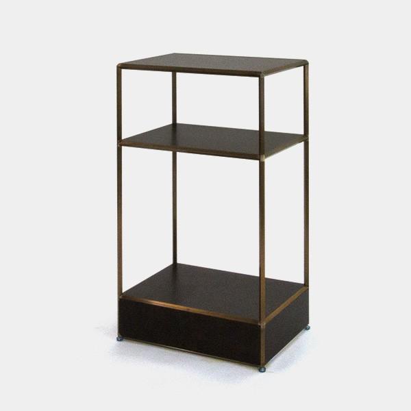ビボ古美色ガラステーブル VB(1x3)600x450H1050SG150