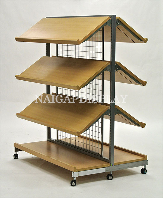 システム什器 1200 棚板両面傾斜セット(バックネット)