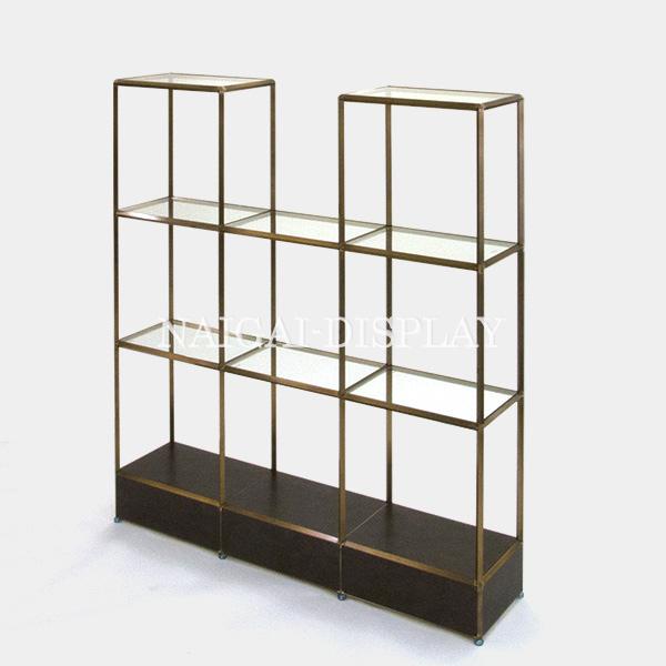 ビボ古美色ガラス棚 VB(3x4/3/4)1350x300H1500SG150