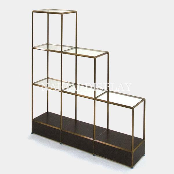 ビボ古美色ガラス棚 VB(3x4/3/2)1350x300H1500SG150