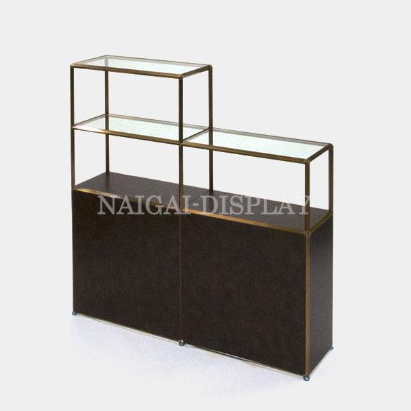 ビボ古美色ガラス棚 VB(2x3/2)1200x300H1200SG600