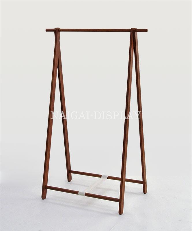 木製ハンガーラック(ブラウン)