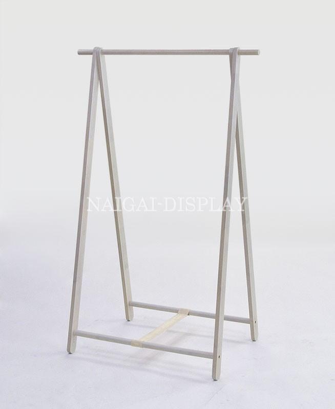 木製ハンガーラック(ホワイト)