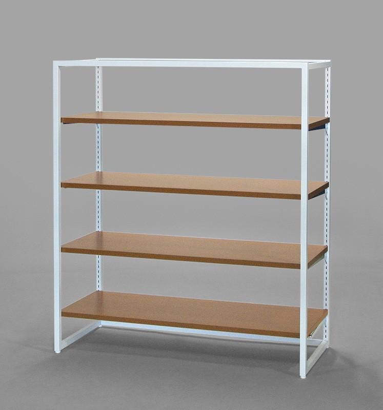 フレーム1350(白)木棚4段