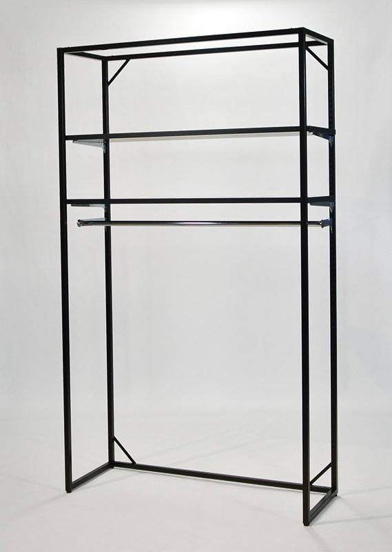 フレーム2100(黒)棚2段+スリーブアウト