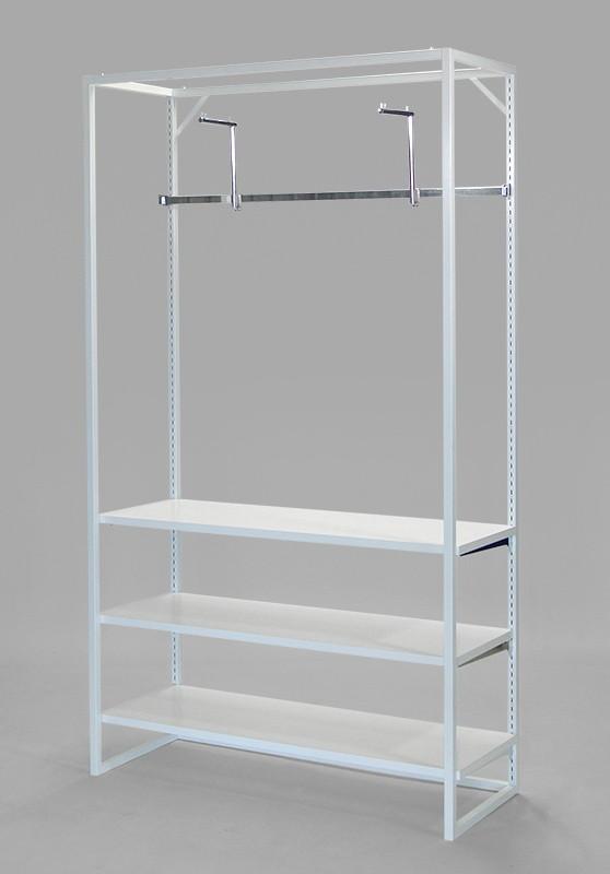 フレーム2100(白)フェイスアウトフック+棚3段